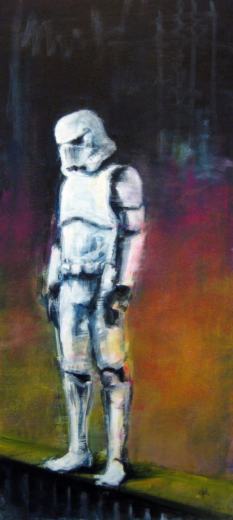 Bad Day. Serie Star Wars. 31x68 cm. Acrylic on canvas