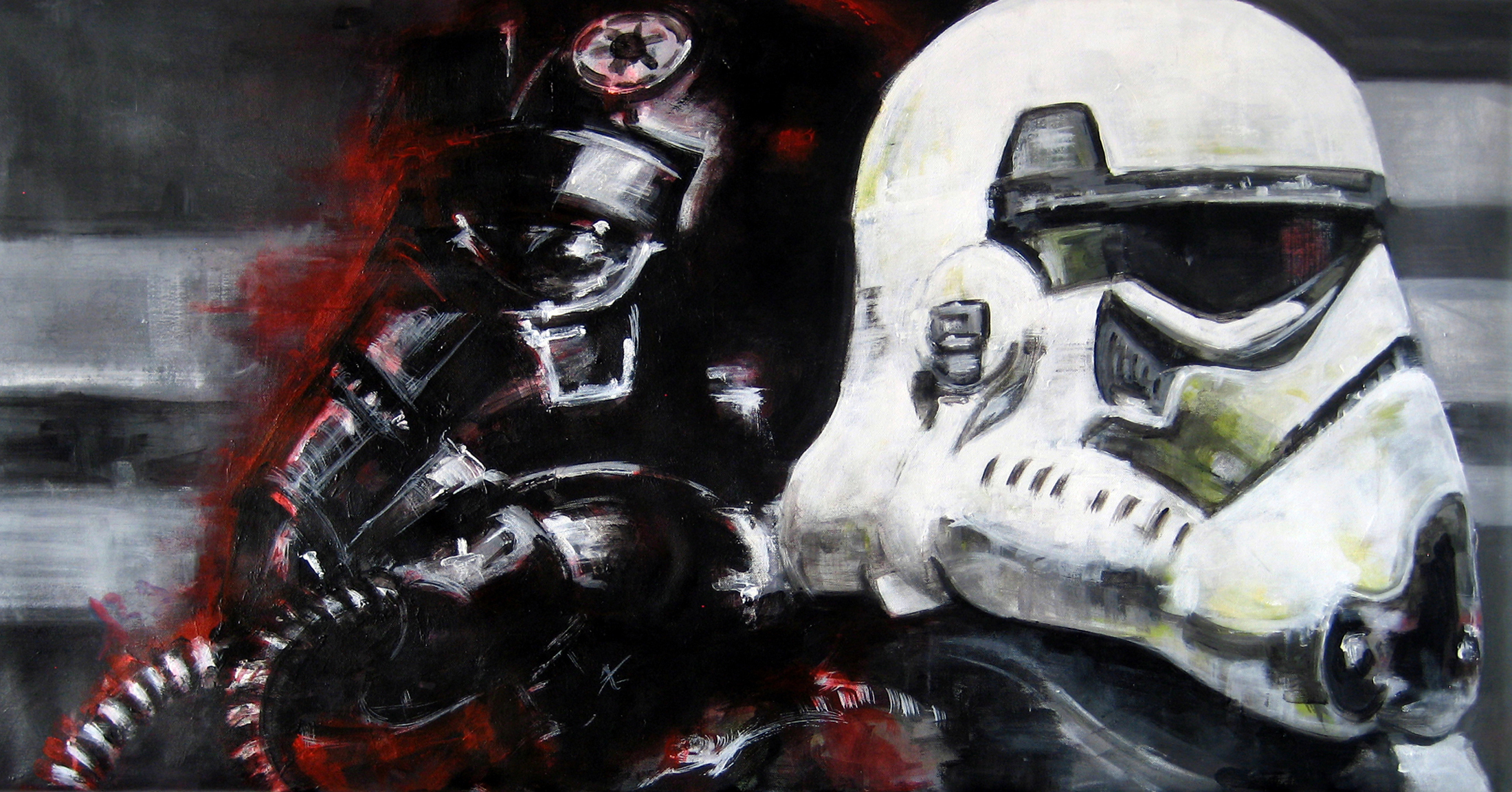 """Cabezones"". Serie Star Wars. 120x60 Acrylic on canvas. Olgafernandez.com"